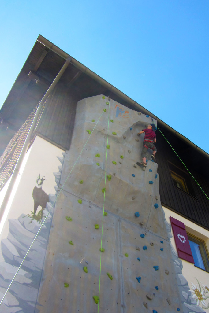 Klettern im Heidi Alm Bergresort in Falkertsee