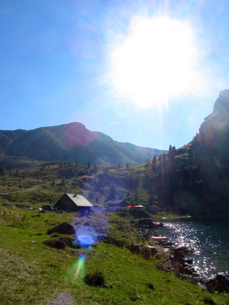 Bergsee - der Falkertsee im Sommer